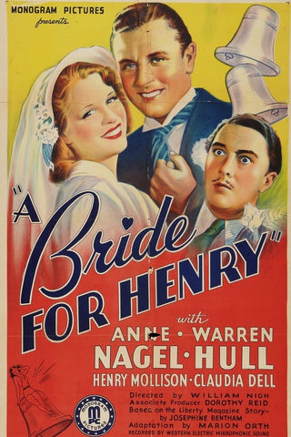 A Bride For Henry (1937) - Anne Nagel  DVD