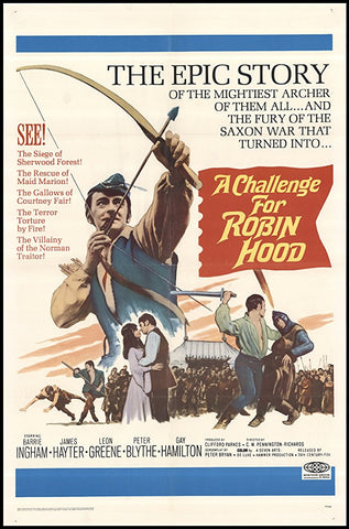 A Challenge For Robin Hood (1967) - Barrie Ingham  DVD