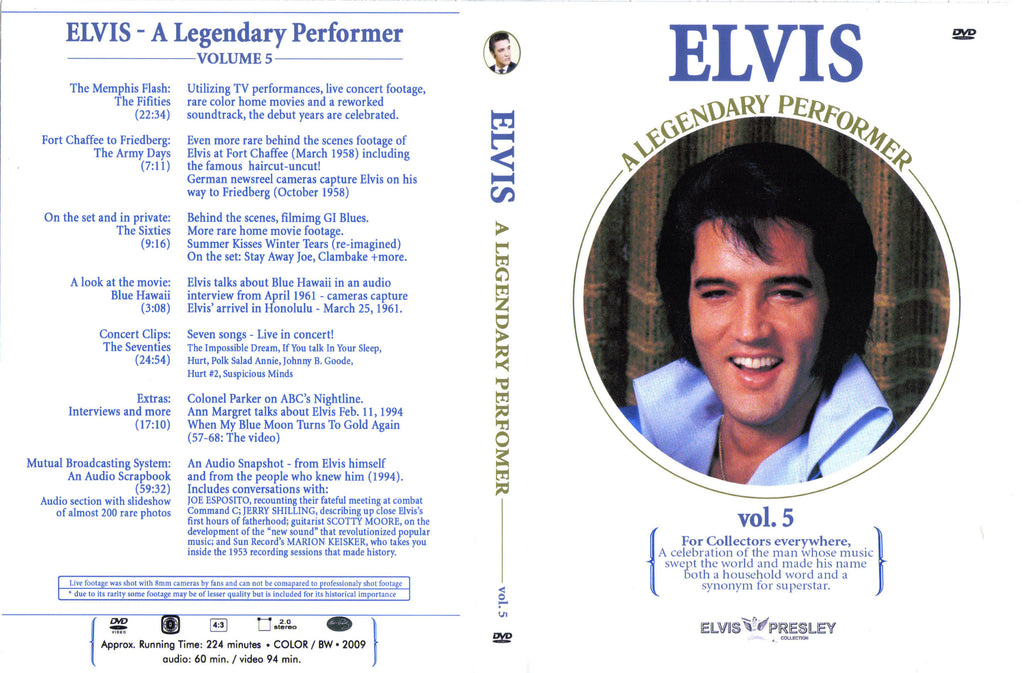 Elvis - A Legendary Performer Vol.5  DVD