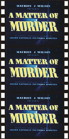 A Matter Of Murder (1949) - John Barry  DVD