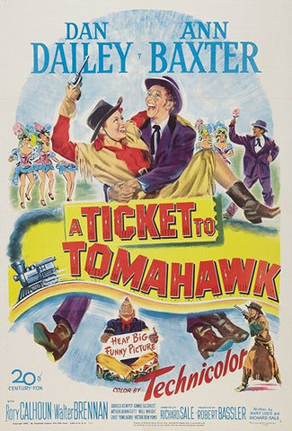 A Ticket To Tomahawk (1950) - Rory Calhoun  DVD