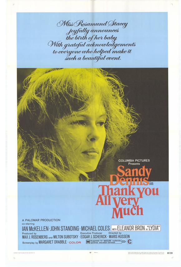A Touch Of Love AKA Thank You All Very Much (1969) - Sandy Dennis  DVD