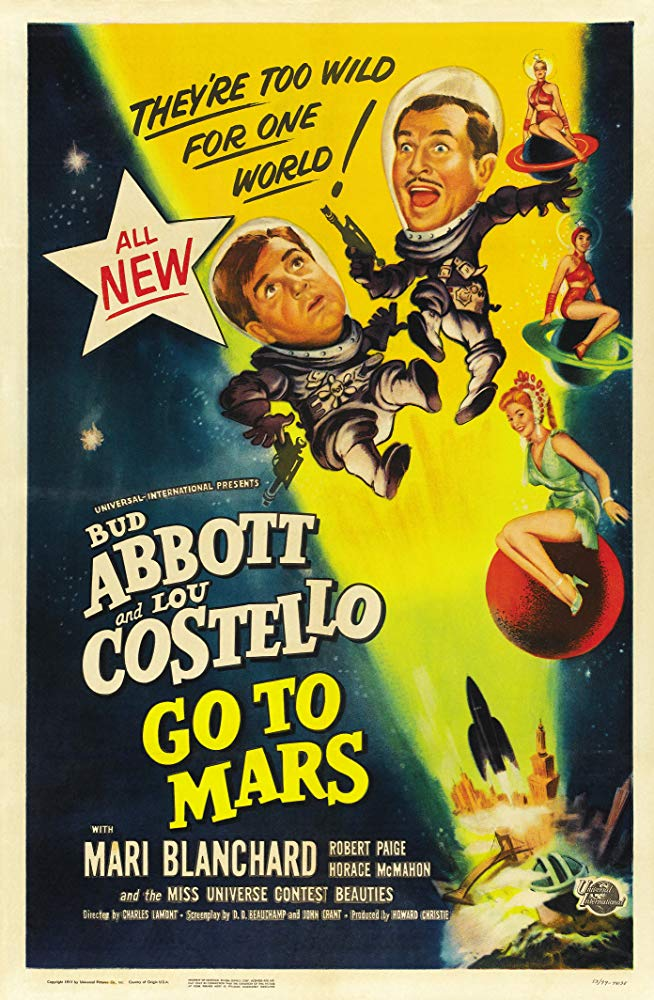 Abbott And Costello Go To Mars (1953)  DVD