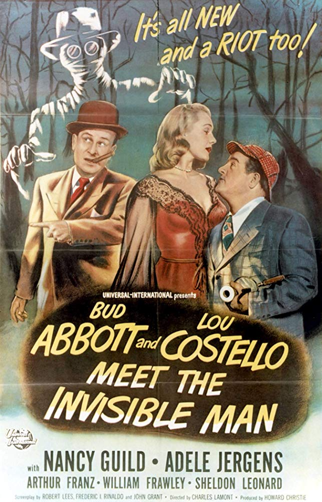 Abbott And Costello Meet The Invisible Man (1951)  DVD