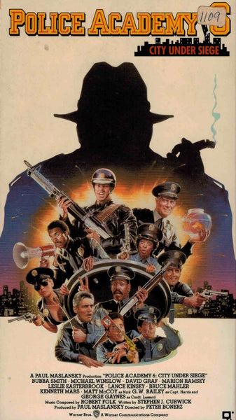 Police Academy 6 : City Under Siege (1989) - Bubba Smith  VHS