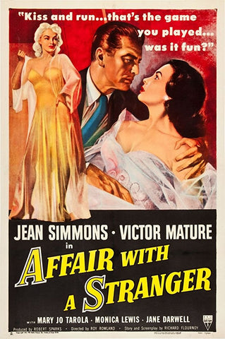 Affair With A Stranger (1953) - Victor Mature  DVD
