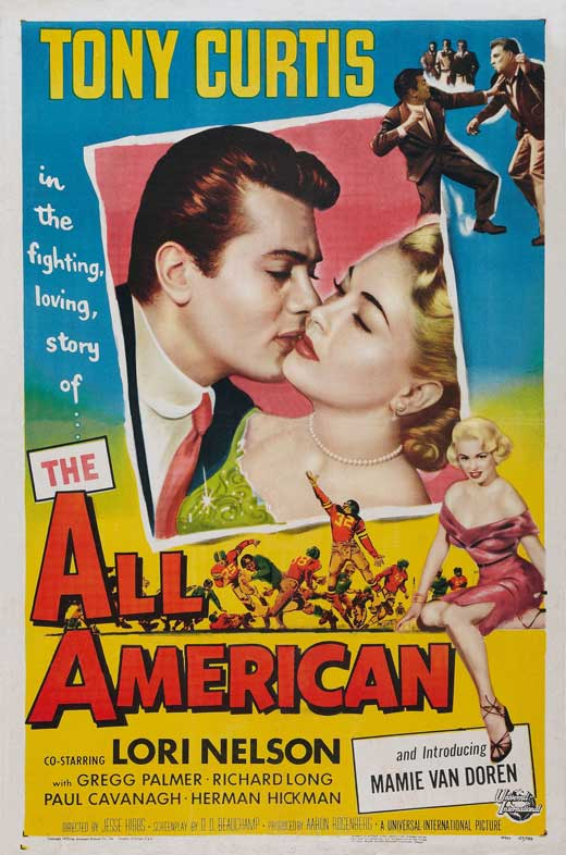 All American (1953) - Tony Curtis  DVD