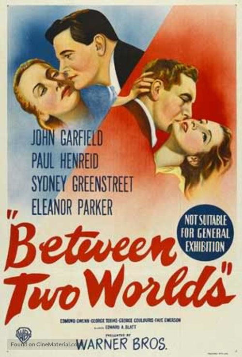 Between Two Worlds (1944) - John Garfield  DVD