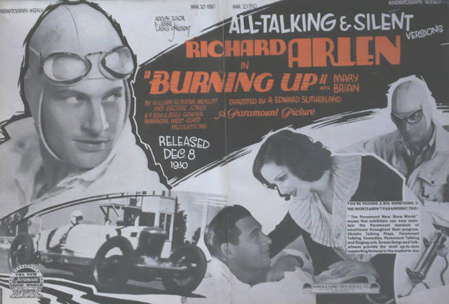 Burning Up (1930) - Richard Arlen  DVD