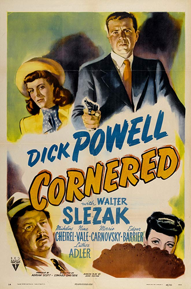Cornered (1945) - Dick Powell  DVD