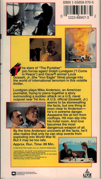 Cover Up (1990) - Dolph Lundgren  VHS