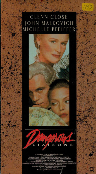 Dangerous Liaisons (1988) - Glenn Close  VHS