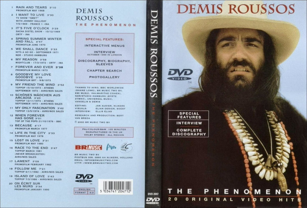 Demis Roussos : Phenomenon - Greatest Hits DVD