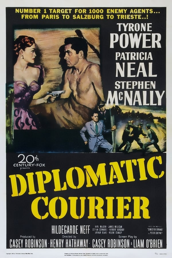 Diplomatic Courier (1952) - Tyrone Power  DVD