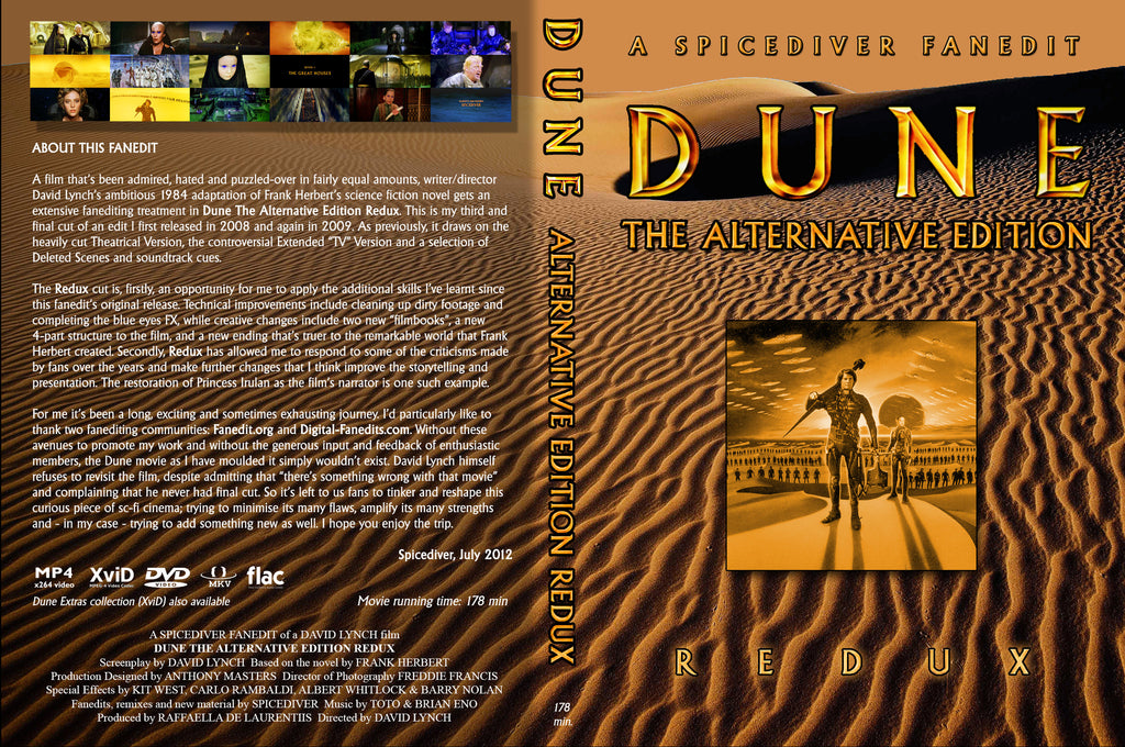 Dune (1984) Extended Alternative Edition 2 DVD Set