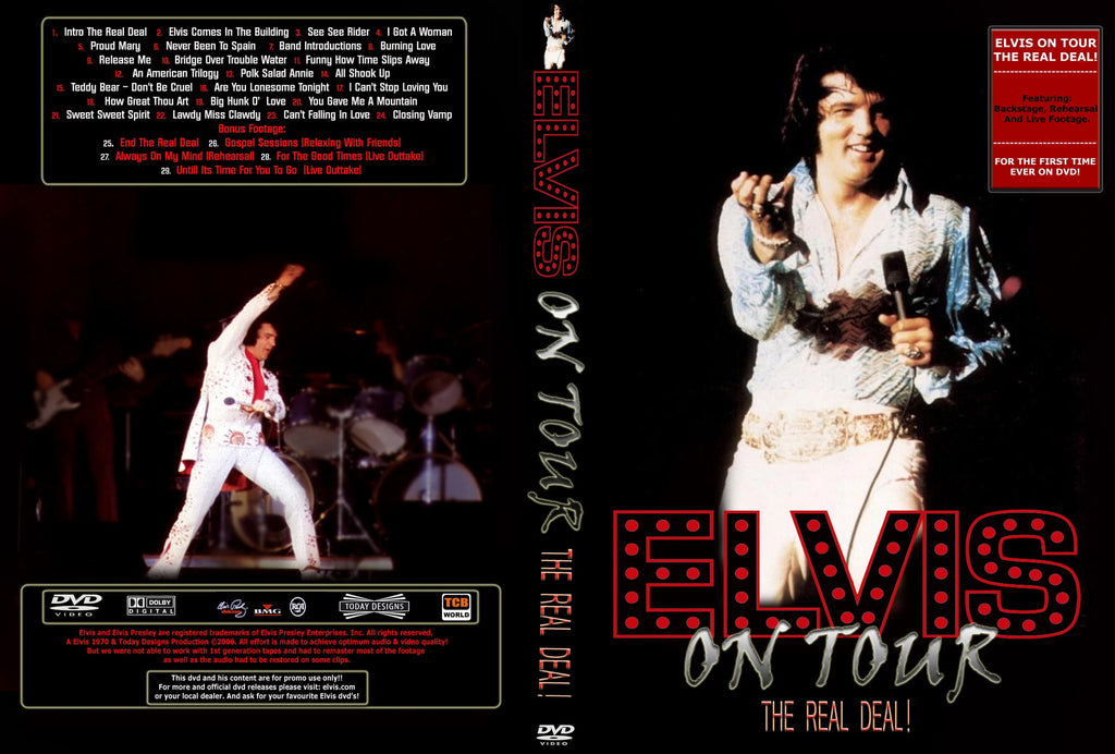 Elvis On Tour - The Real Deal DVD