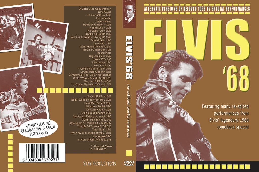 Elvis ´68 - Alternate Versions DVD