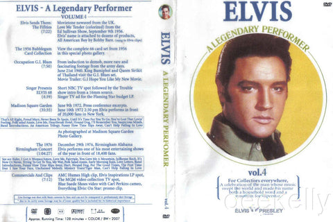 Elvis - A Legendary Performer Vol. 4  DVD