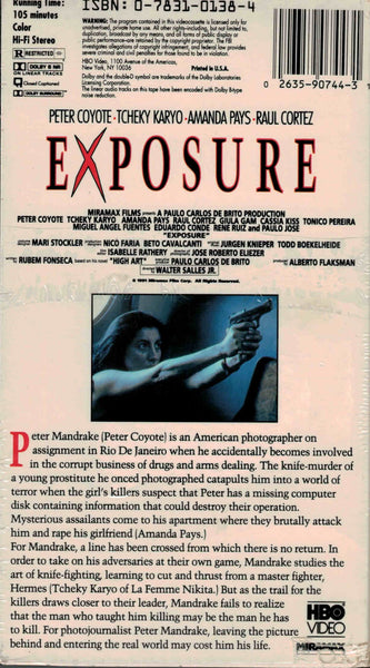 Exposure (1991) - Peter Coyote  VHS