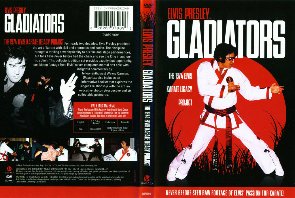 Elvis Presley Gladiators: 1974 Karate Legacy DVD