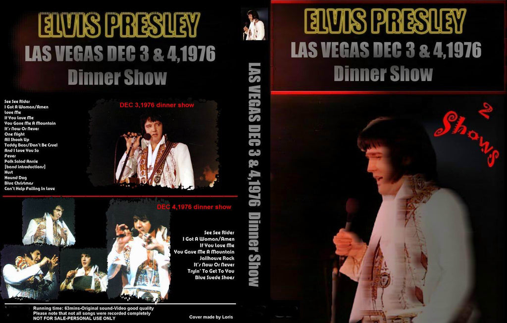 Elvis : Last Vegas - The Final Las Vegas Shows 1976 + BONUS DVD
