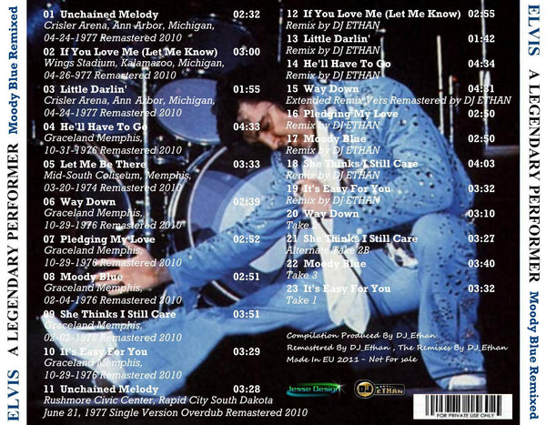 A Legendary Performer - Moody Blue  CD