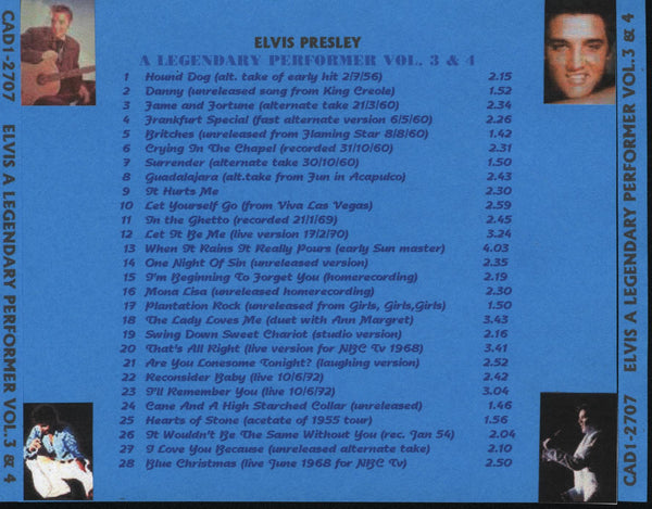 A Legendary Performer - Vol. 3 & 4  CD