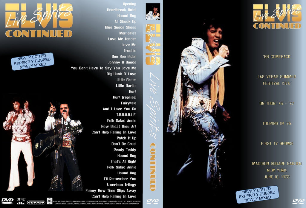 Elvis - Live Spirits Continued DVD