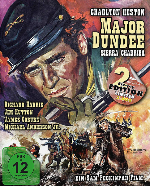 Major Dundee Dir. Cut (1964) - Sam Peckinpah Limited Edition Mediabook ( 2 Blu-rays )