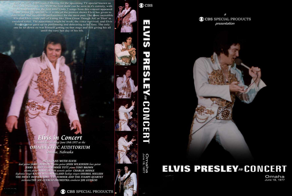 Elvis - Live In Omaha / Rapid City 1977 DVD