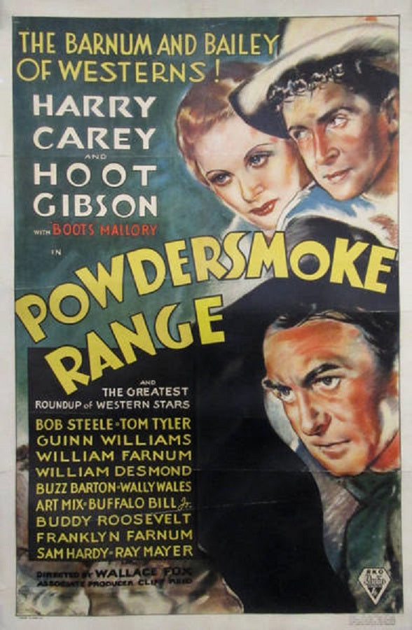 Powdersmoke Range (1935) - Harry Carey  DVD