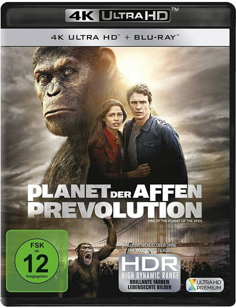 Rise Of The Planet Of The Apes 2011 James Franco 4k Ultra Hd Blu Elvis Dvd Collector Movies Store