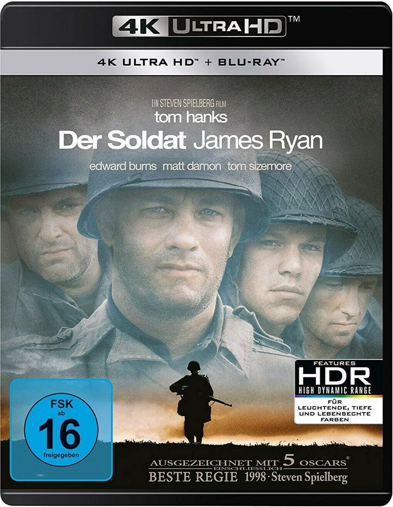 Private Ryan (1998) - Tom Hanks  4K Ultra HD + Blu-ray