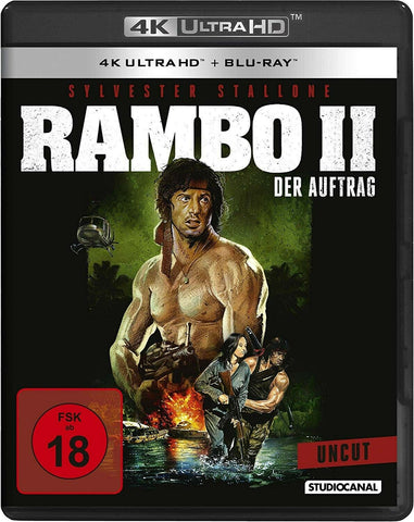 Rambo : First Blood Part 2 (1985) - Sylvester Stallone 4K Ultra HD + Blu-ray Disc