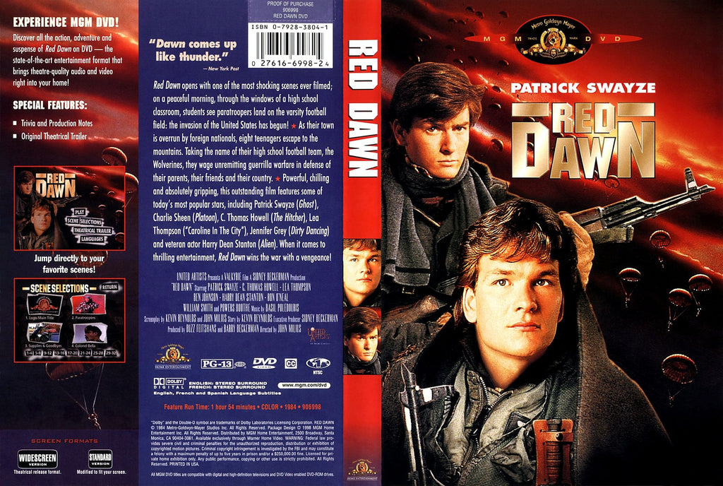 Red Dawn (1984) - Patrick Swayze  DVD