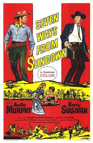 Seven Ways From Sundown (1960) - Audie Murphy  DVD
