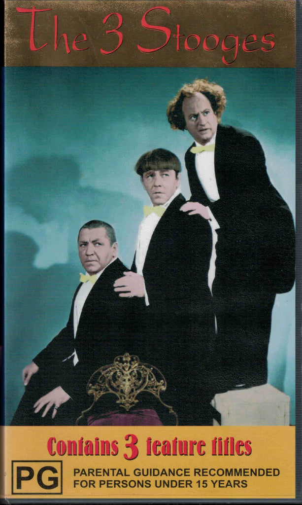 The Three Stooges  3x VHS Set (PAL)