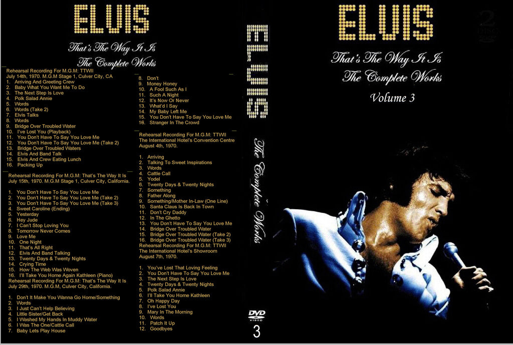 Elvis - The Complete Works : Vol.3 ( TTWII ) DVD