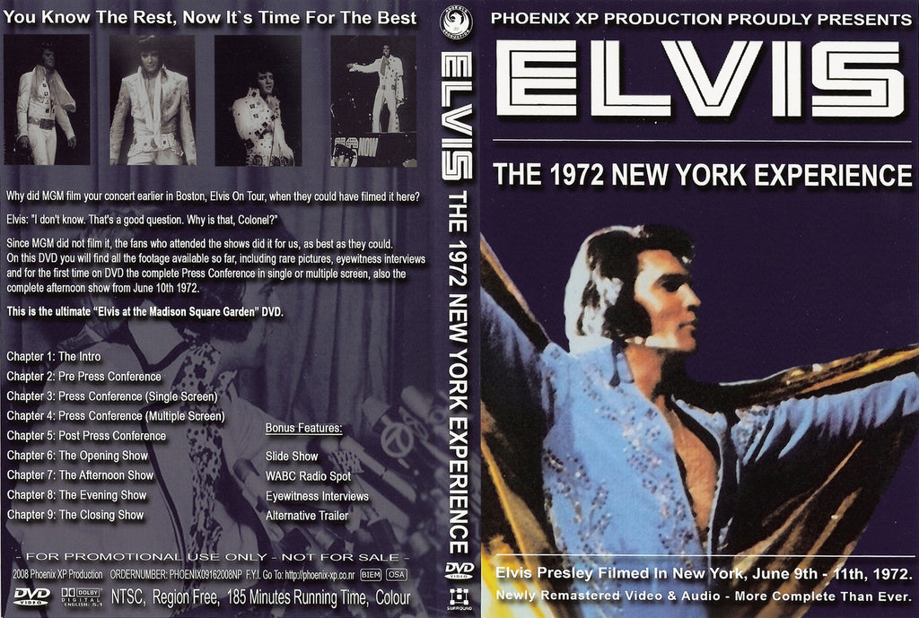 Elvis - The 1972 New York Experience DVD