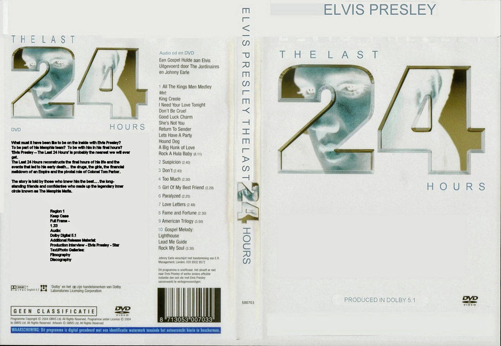 Elvis : The Last 24 Hours  DVD
