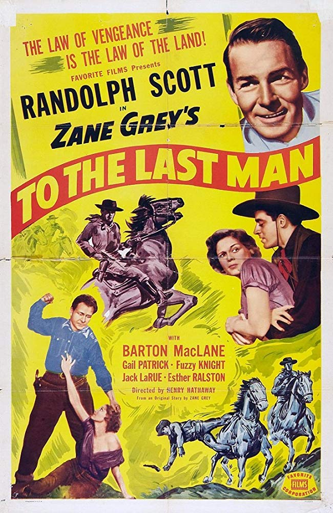 To The Last Man (1933) - Randolph Scott  DVD