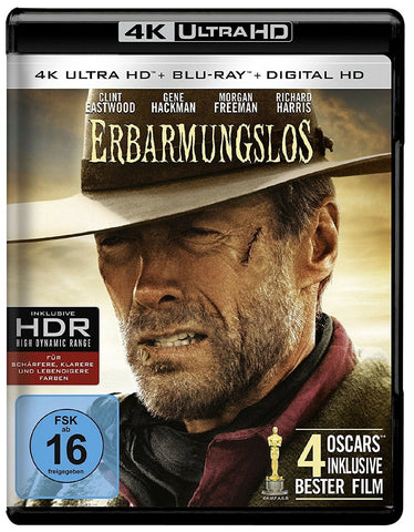 Unforgiven (1992) - Clint Eastwood 4K Ultra HD + Blu-ray Disc