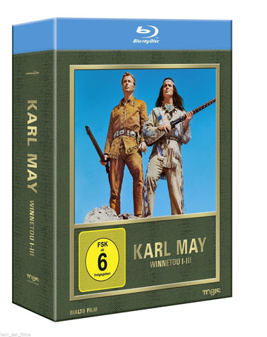 Winnetou : Part 1-3  (1963-1965)  3 Blu-ray Box Set