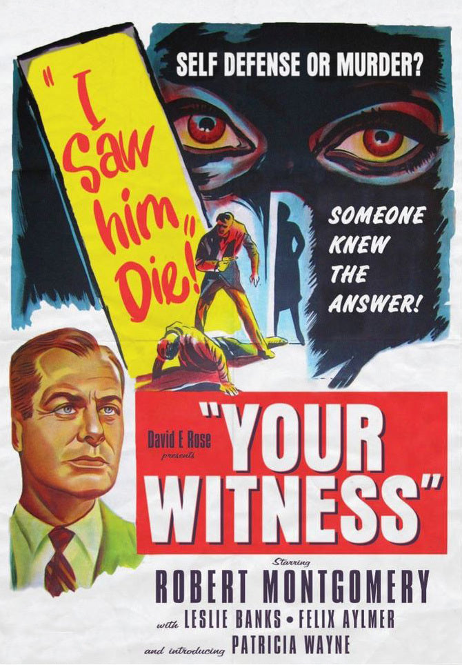 Your Witness AKA Eye Witness (1950) - Robert Montgomery  DVD