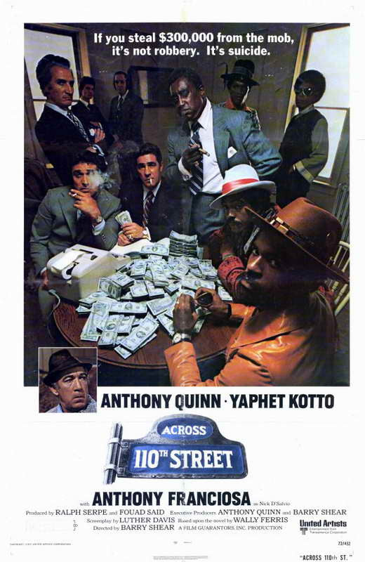 Across 110th Street (1972) - Anthony Quinn  DVD