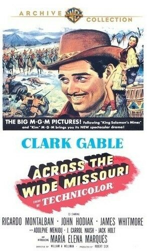 Across The Wide Missouri (1951) - Clark Gable  DVD