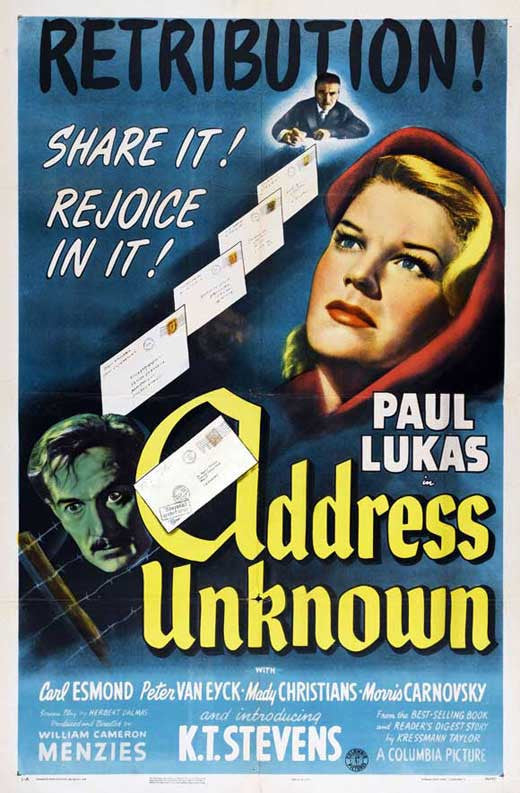 Address Unknown (1944) - Paul Lukas  DVD