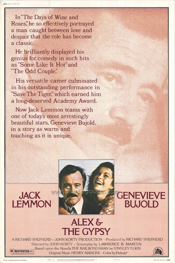 Alex And The Gypsy (1976) - Jack Lemmon  DVD