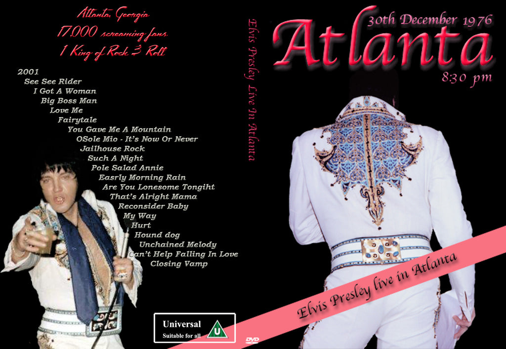 Elvis - Live In Atlanta,GA 1975-1976  DVD