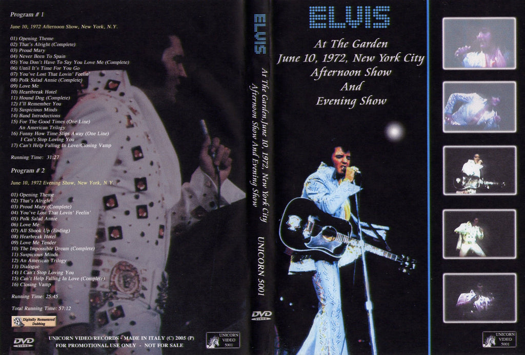 Elvis - Live At Madison Square Garden,NY 1972  DVD